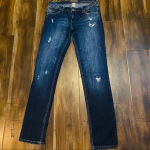 Arizona Favorite Skinny Distressed Jeans Sz 9 Long